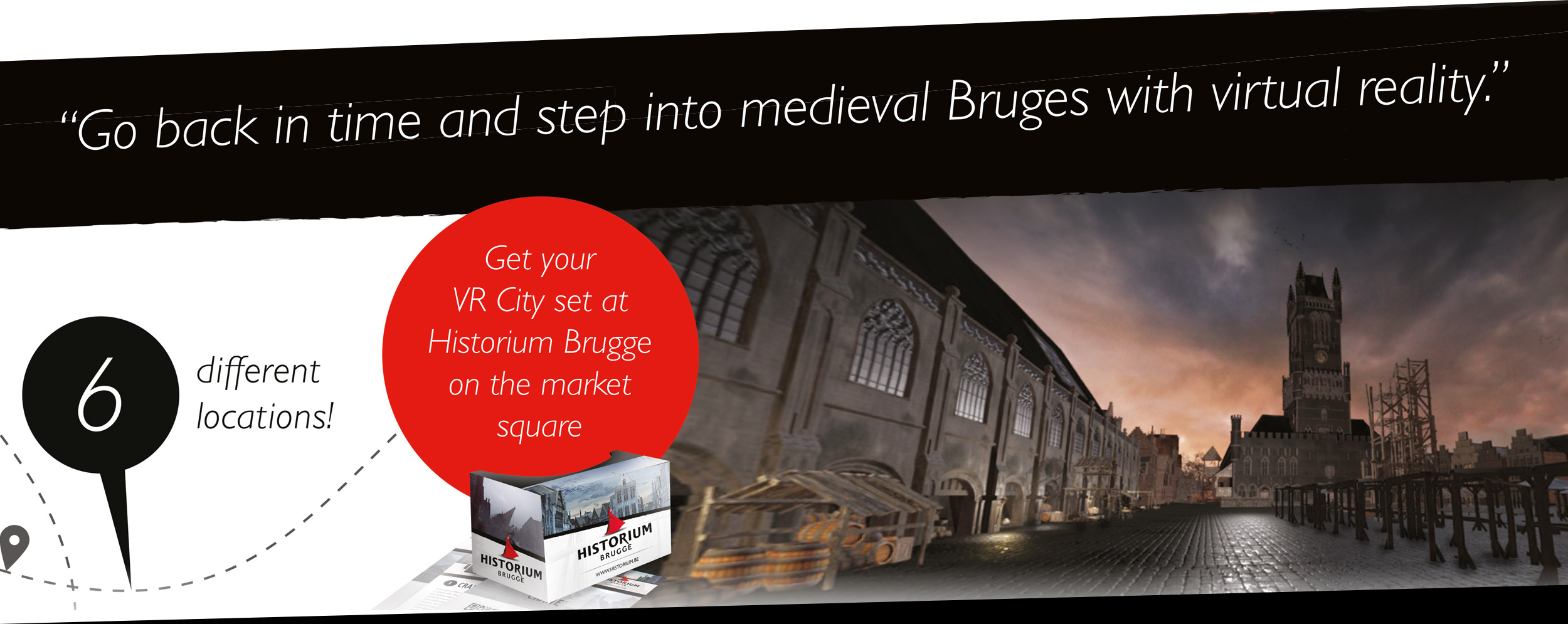 Go back in time and step into medieval Bruges with virtual reality